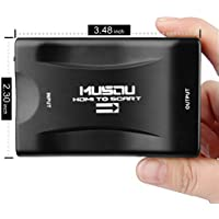 HDMI to Scart Converter, Musou HDMI auf Scart Video Audio Converter Wandler Adapter voor SKY Blu Ray DVD PS4