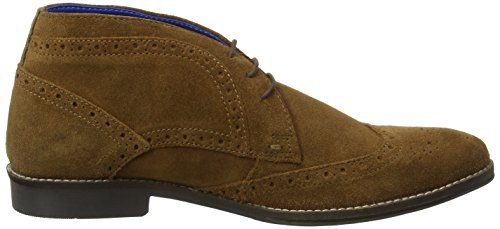 Red Tape Milton, Scarpe Stringate Basse Brogue Uomo Brown (brown Leather)