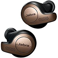 Jabra Elite 65T Auricolari Wireless, Cuffie Bluetooth con Funzione Passive Noise Cancelling e Tecnologia a 4 Microfoni, Chiamate e Musica Wireless, Nero Ramato
