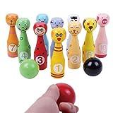 Omiky® Desktop Bowling Spielzeug, Mini Tisch Desktop Bowling Game Set für Kinder Spaß Indoor Eltern-Kind Interaktives Spielzeug (Mehrfarbig)