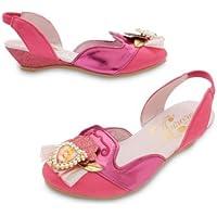 Disney–Sleeping beauty Aurora rosa costume scarpe–ragazza taglia UK 11/12–EU 29/31