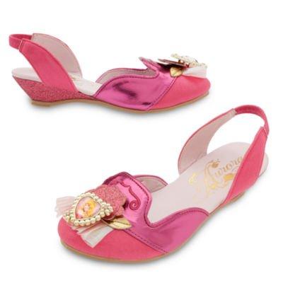 Disney original - Aurora Dornröschen - - Rosa -formalen Kostümschuhe / Schuhe für Kinder - UK Größe, 9 /10 , EU Größe 27 - - Merida Kostüm Schuhe