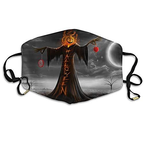 Daawqee Staubschutzmasken, Halloween Pumpkin Anti Dust Breathable Face Mouth Mask for Man ()