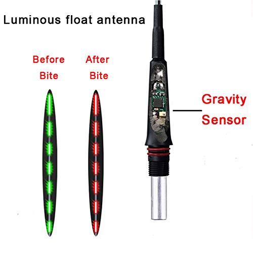 Small Rivulet Fish float Smart-Schwerkraft-Sensor Angelschwimmer mit einem Chip Farbe ändern Wenn Biss Fischen Luminous Floats Nachtlicht Angeln Bojen, 1 PC-Länge-17.5cm -