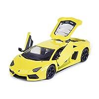 Serie di auto: auto sportivaNome del modello: Lamborghini Aventador LP700-4Tipo di giocattolo: giocattolo di metalloTipo di modello: prodotto finitoMateriale del prodotto: metallo, plastica di alta qualitàClassificazione di colore: giallo, biancoEtà ...