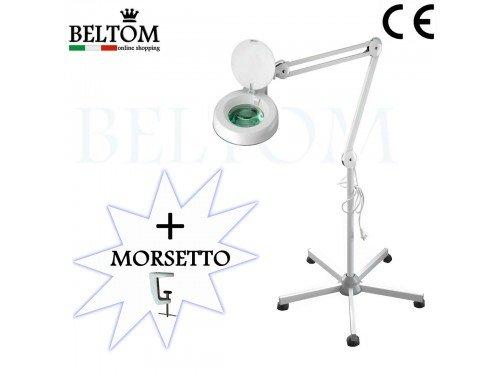 LENTE 5 DIOTTRIE D'INGRANDIMENTO CON STATIVO, MORSETTO, MOLLE INTERNE E LAMPADA A...