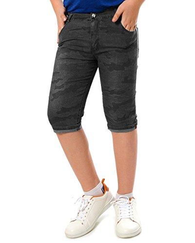 BEZLIT Jungen Jeans Camouflage Shorts 22039, Farbe:Schwarz, Größe:128