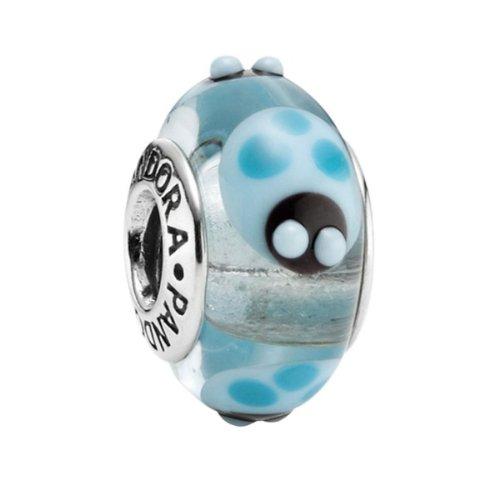 Pandora – 790654 – Drops Femme – Argent 925/1000 – Verre de Murano – Bleu