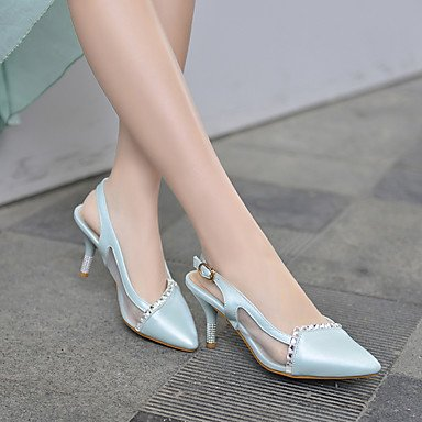 LFNLYX Talons féminins Printemps Été Automne Autre similicuir Bureau et carrière Robe de soirée et soirée Stiletto Heel Sparkling Glitter Blue Pink White Blue
