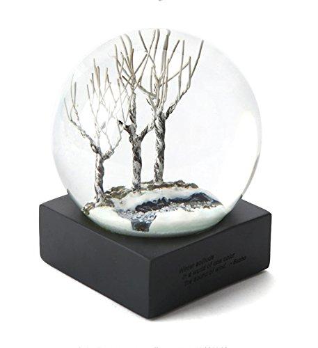 Bola de cristal de nieve con base, mariposa