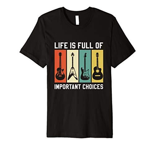 Herren Gitarre T-Shirt Vintage Gitarrist Musiker Shirt Geschenk