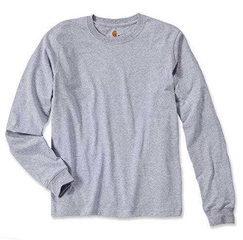 Carhartt Workwear EK231 Longsleeve Logo Langarm Shirt 100% Baumwolle - Farbe: Heather Grey - Größe: S