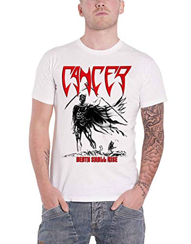 Cancer T Shirt Death Shall Rise Band Logo Death Metal Nuovo Ufficiale Uomo Size XL