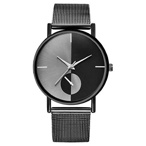 (VJGOAL Damen Uhren, Frauen Mädchen Schwarz Mode Trend Cool Classic Minimalistisches Watch Geburtstagsgeschenk)