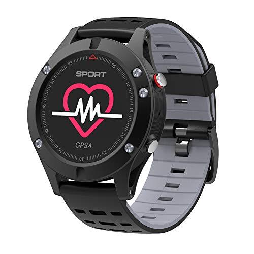 Smart-Uhr, Sportuhr, wasserdichtes Armband Höhenmesser-Barometer GPS-Positionierungsthermometer, Pulsmesser für Männer und Fitness-Tracker für Frauen (Gps-höhenmesser-barometer-uhr)