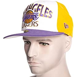Gorra New Era: Team Word Arch Los Angeles Lakers WH/PP