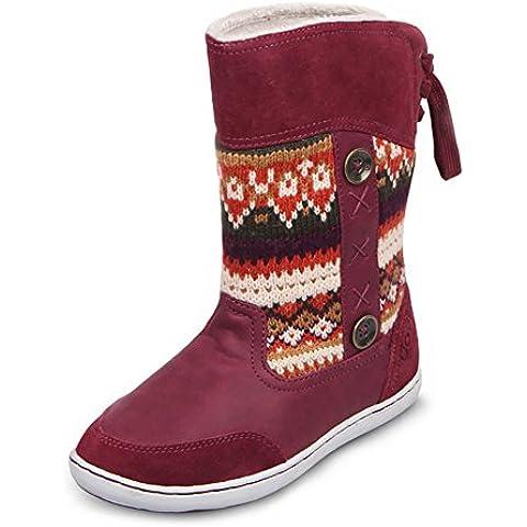 UOVO Invierno Snow Boot Reindeer Back Lace-Up Zapatos Para Niños Niños Niñas