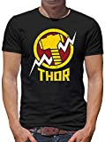 Avengers Thor Camiseta para Hombre T-Shirt M Negro