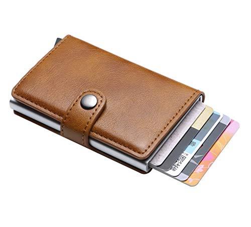 ACMEDE Portafoglio Uomo RFID Slim, Porta Carte di Credito da Uomo Portafoglio per Carte di Credito e Banconote con Protezione RFID Portafoglio Uomo Donna, Blocco RFID e NFC Schermato Pop-up Pulsante