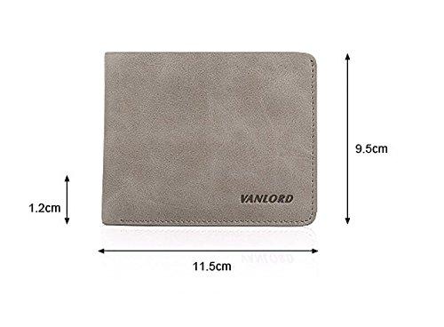 ZXDOP Geldbörsen Herren Leder Brieftasche Retro Männer Kurze Herren Leder Personalisierte Leder Tasche ( farbe : Braun ) Braun
