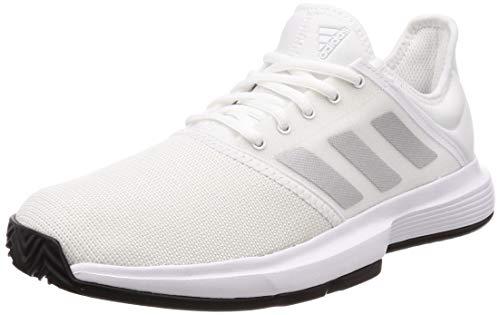 adidas Herren Gamecourt M Tennisschuhe, Weiß FTWR White/Matte Silver/Core Black, 44 EU