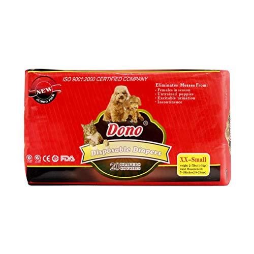 POPETPOP Pannolini Cucciolo di Cane Femmina USA e Getta Super Assorbente