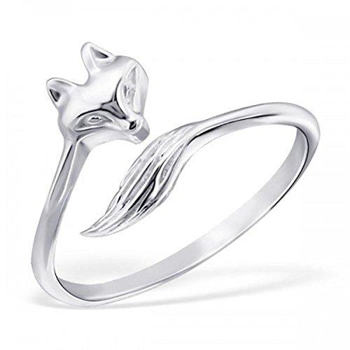 Fox Sterling Silver Midi Ring