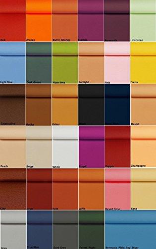 Su misura tende verticali di ricambio a lamelle–8,9cm bermuda tessuto (confezione da 10listelli)–con pesi e catene grucce, spedizione gratuita