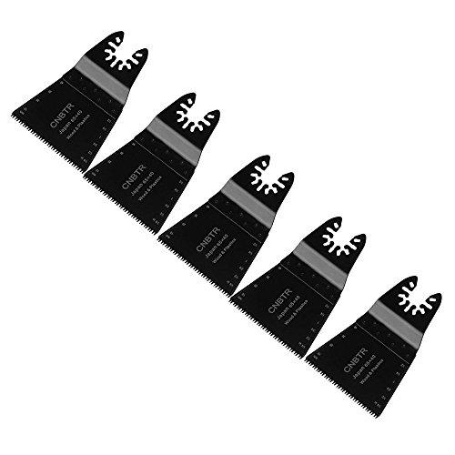 cnbtr schwarz 65x 40mm Japanische Zahn Form Carbon Stahl Sägeblatt Pendelndes Multitool Präzision Quick Release Sägeblätter Set von 5