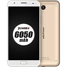 [Nuevo Lanzamiento] Ulefone Power 2 - Batería 6050mAh 5,5 pulgadas Android 7,0 smartphone 4 GB RAM 64 GB ROM MTK6750T Octa Core 13MP + 16MP cámara de carga rápida Front touch ID GPS - Oro