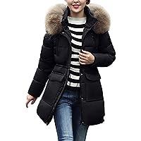 Hanomes Damen pullover, Frauen Winter Warme Oberbekleidung Kapuzenmantel Schlank Baumwolle gefütterte Jacke preisvergleich bei billige-tabletten.eu