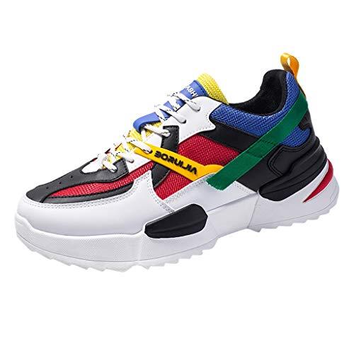 Bluestercool Uomo Scarpe Running Sneakers Moda Mesh Casual Scarpe Low-Top Studente Scarpe Breathable