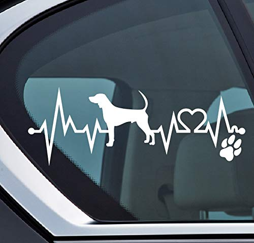 Black and Tan Coonhound Herzschlag Aufkleber, Hund an board, Sticker Auto, Dog -