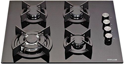 MILLAR GH6041XEB 60cm 4 fornelli in vetro piano cottura a gas