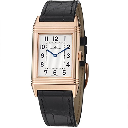 jaeger-lecoultre-womens-reverso-black-leather-band-steel-case-mechanical-silver-tone-dial-watch-q278