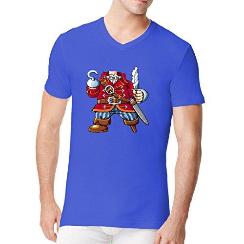 Fun Männer V-Neck Shirt - Little Pirat by Im-Shirt Royal