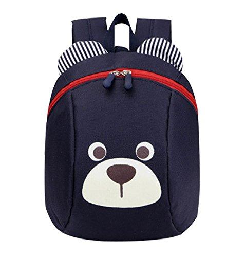 DNFC Kindergartenrucksack Kindergartentasche Babyrucksack Kinderrucksack mit Brustgurt Süß Kindertasche Kindergarten Schulrucksack Kleinkinder Rucksack Kinder Schultasche Backpack (Dunkelblau)