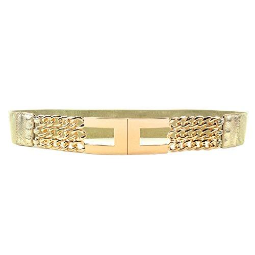 nuovi stili 444b2 cd27b MYB Cintura elastica per donna con fibbia dorata - taglia ...