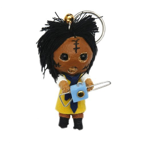 Leatherface Voodoo String Doll Keychain by String Doll World