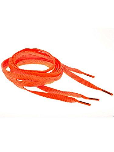 Tubelaces Chaussures Plates Lacées Blanches De Couleur Orange