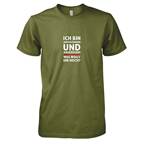 TEXLAB - Aufgestanden und angezogen - Herren T-Shirt, Größe XXL, oliv -