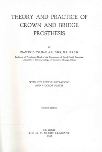 Theory and practice of crown and bridge prothesis.