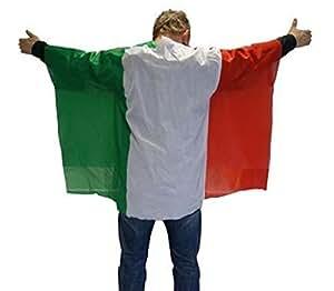 ITALIEN Flagge Cape Fankostüm Fanumhang Fan Umhang Fahnenumhang Fahne Fahnencape Poncho Flaggenumhang