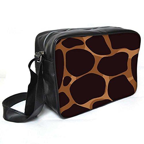Snoogg Giraffe Haut Leder Unisex Messenger Bag für College Schule täglichen Gebrauch Tasche Material PU