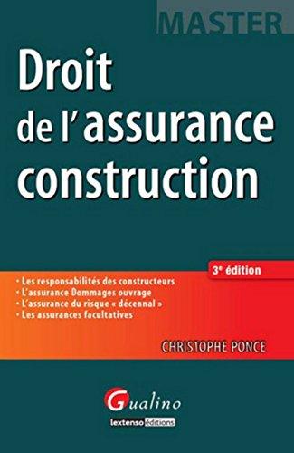 Master-Droit de l'assurance construction, 3ème édition