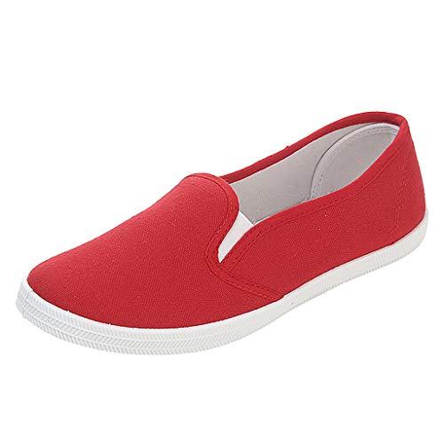 Ashui Damen Slip-On Sneaker Flatform Sneaker Sportschuhe Straßenlaufschuhe Turnschuhe Leichte Schuhe Laufschuhe Canvas Sneaker Jogging Fitness Schuhe Freizeitschuhe Walkingschuhe