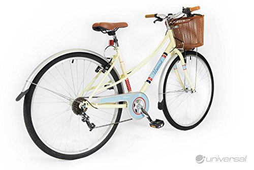 Universal Classic 700c Ladies City Bike – Cream and Blue – NEW RANGE