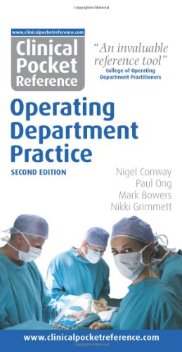 Clinical Pocket Reference Operating Department Practice second edition