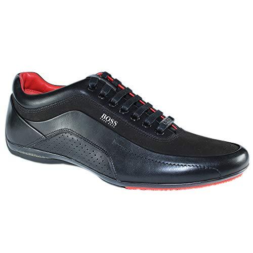 BOSS Herren Sneaker HB Racing1 aus Leder Schwarz 43