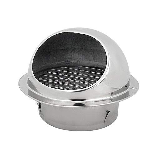 Hamkaw Edelstahl-Abluftventilator, runde Form, für Küche und Bad, 12cm/4.8Inch